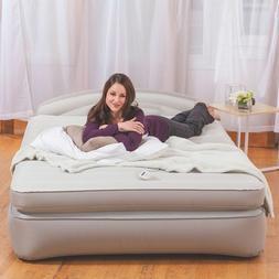 AeroBed Opti-Comfort Queen Air Bed Mattress with Headboard.