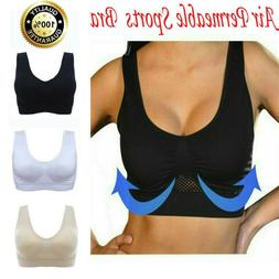 Air Permeable Cooling Womens Seamless Sport Gym Yoga Wireles