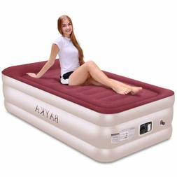 Bayka Twin Air Mattress With With Built-In Pump  Pillow, Rai