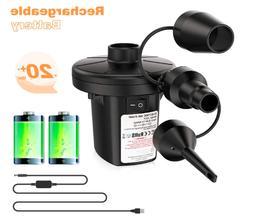 Cordless Electric Air Pump for Air Mattress Inflatables w/ R