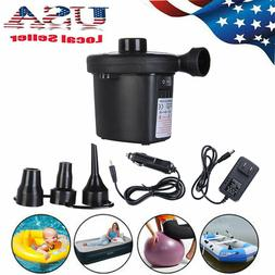 Electric Air Pump Inflator Deflate 3 Nozzles for Air Bed Mat