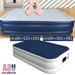 Full Size Air Mattress Air Bed Inflatable Electric Pump Fast