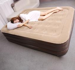 inflatable air bed matress folding with air pump indoor outd