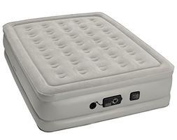 Insta Bed Raised Air Mattress With Never Flat Pump, Grey, Qu