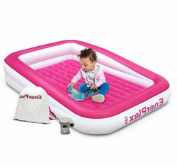 Kids Inflatable Travel Bed, Portable Air Mattress by Enerple