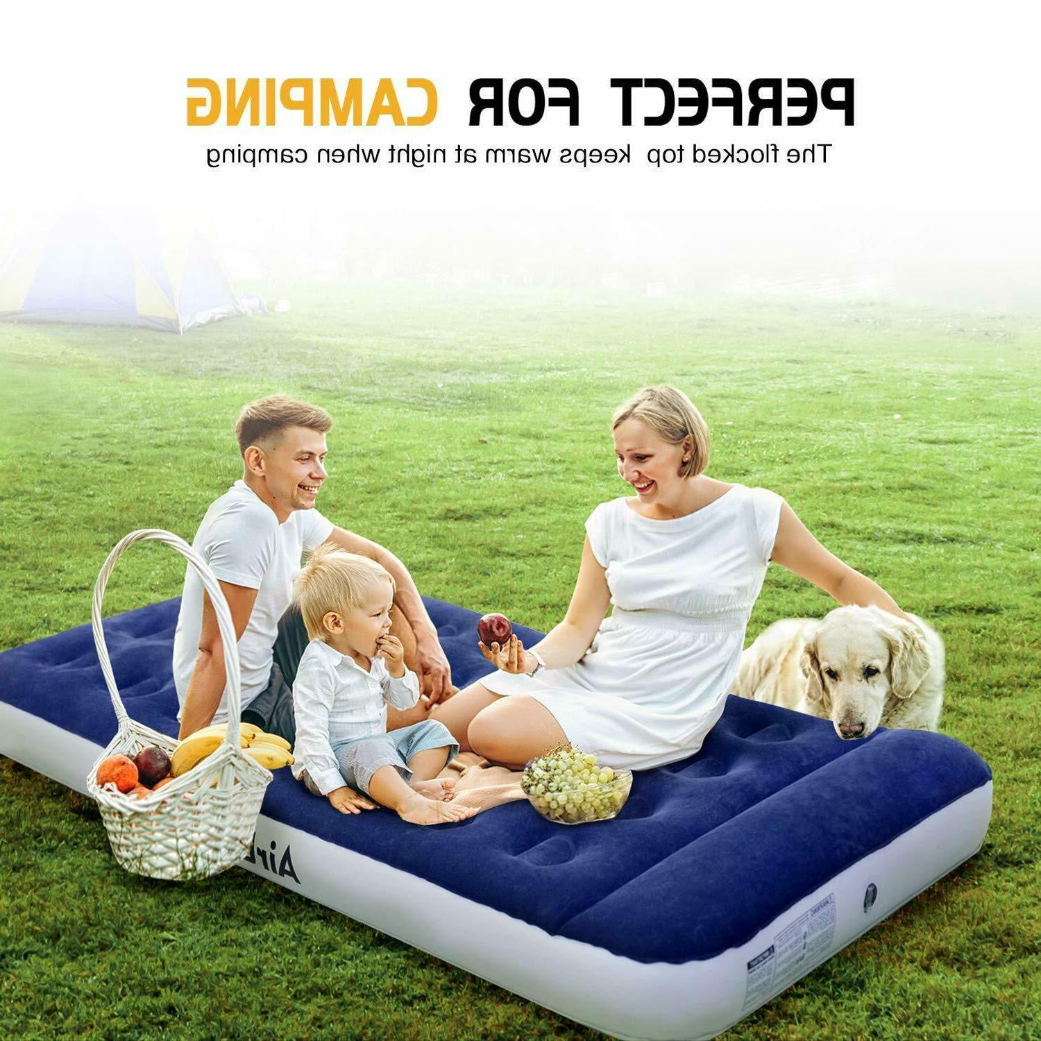 Air Mattress Camping AirBed Twin Electric Built Camp