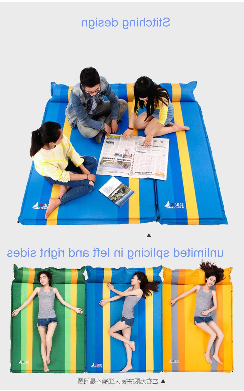 Airbed Camping <font><b>Matress</b></font> Portable Sleeping with Pillow Double