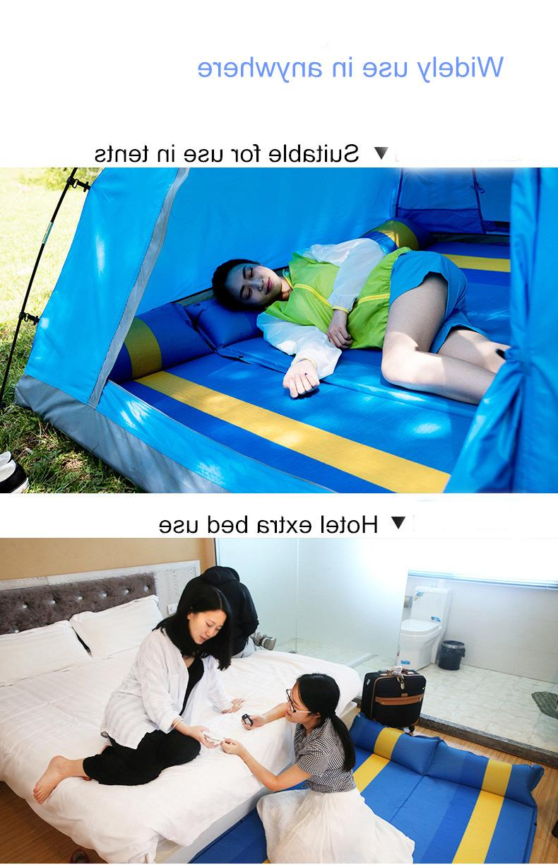 Airbed Automatic Inflated Camping Mat <font><b>Matress</b></font> Portable Sleeping Pad with Pillow Double