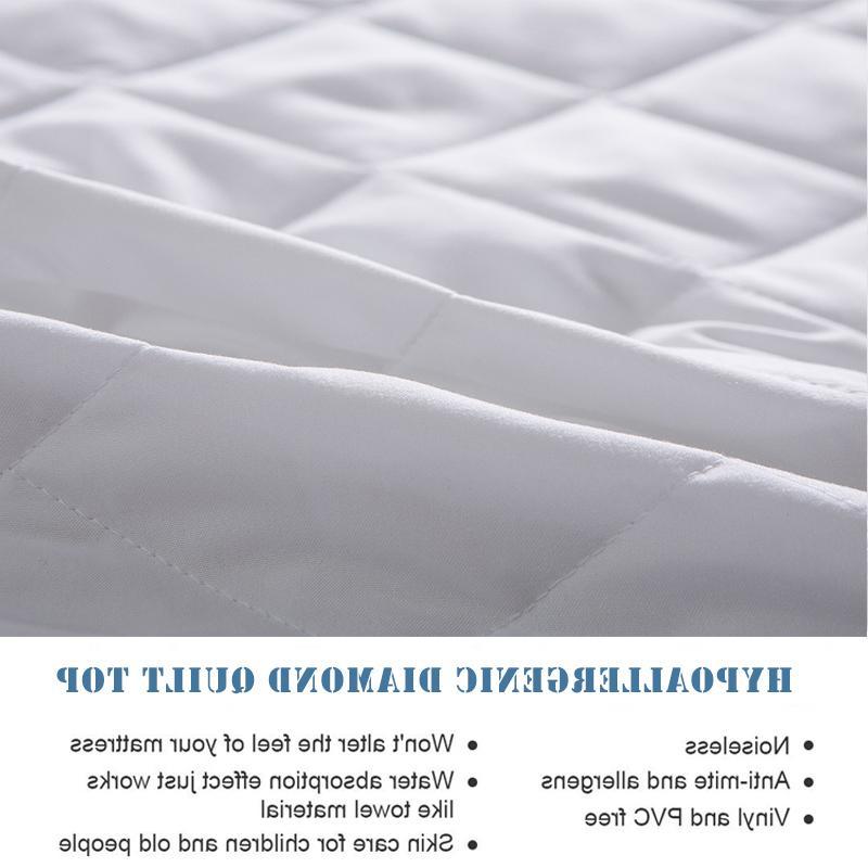 Turetrip Fabric Waterproof <font><b>Mattress</b></font> <font><b>Fitted</b></font> Protector Colchao Waterproof Sheet Matress Protector