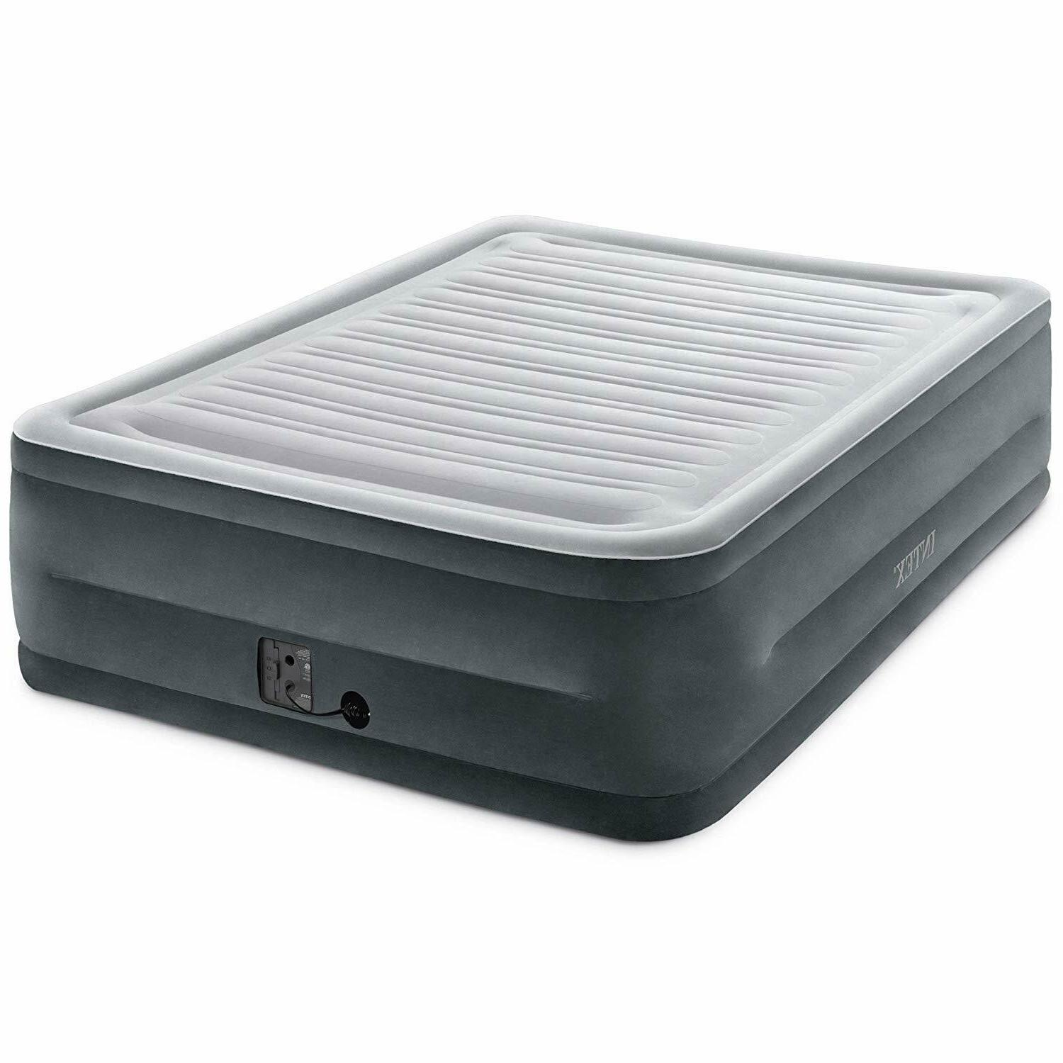 """Queen Size Air Bed Mattress Intex 22"""" With Built-In Electric"""