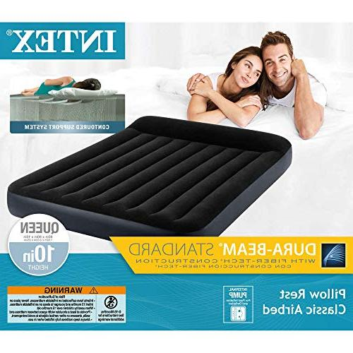 Intex Standard Pillow Classic Airbed with Built-in Pump, Multi