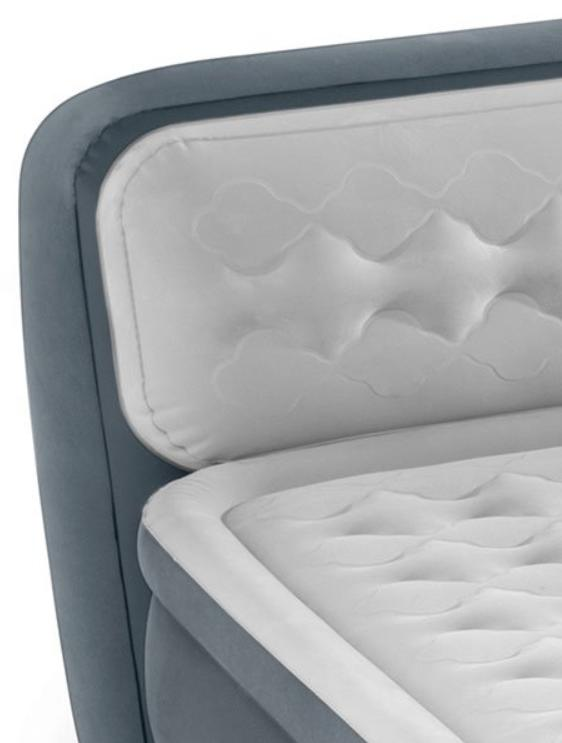 Inflatable Mattress Built In Headboard Blow Bed New