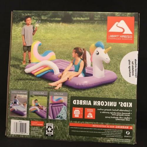 Ozark Trail Kids Unicorn Airbed Pillow Matress