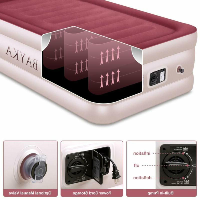 New Bayka Twin Air Bed With Pump Double