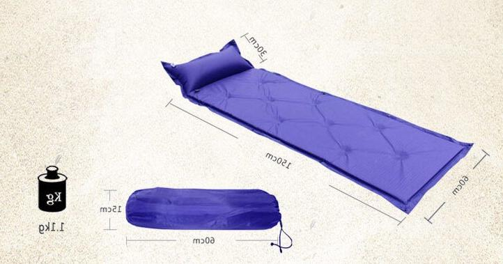 Outdoor Automatic Camping <font><b>Matress</b></font> with Pillow Self-inflating