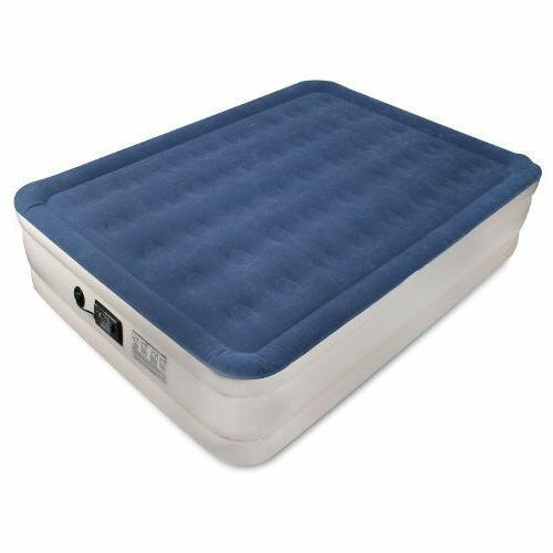 Queen Size Raised Inflatable Air Mattress Aerobed With Built