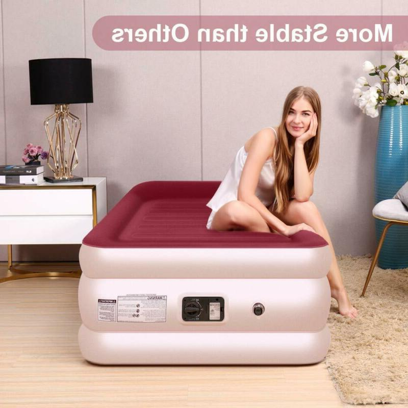 New Bed Mattress With Pump Pillow Raised Double