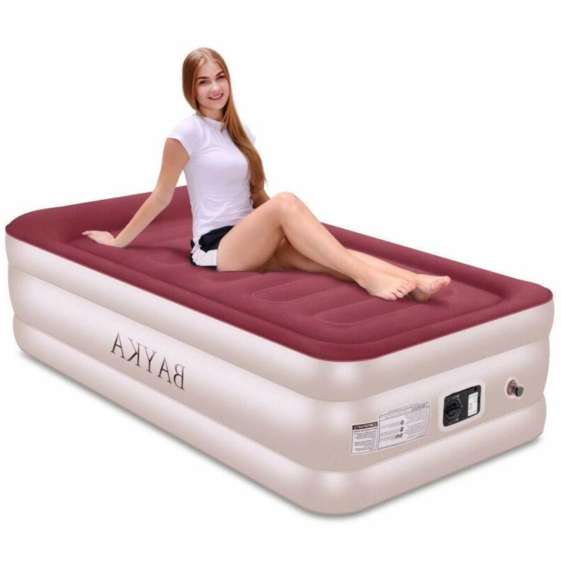 new twin air bed mattress with built