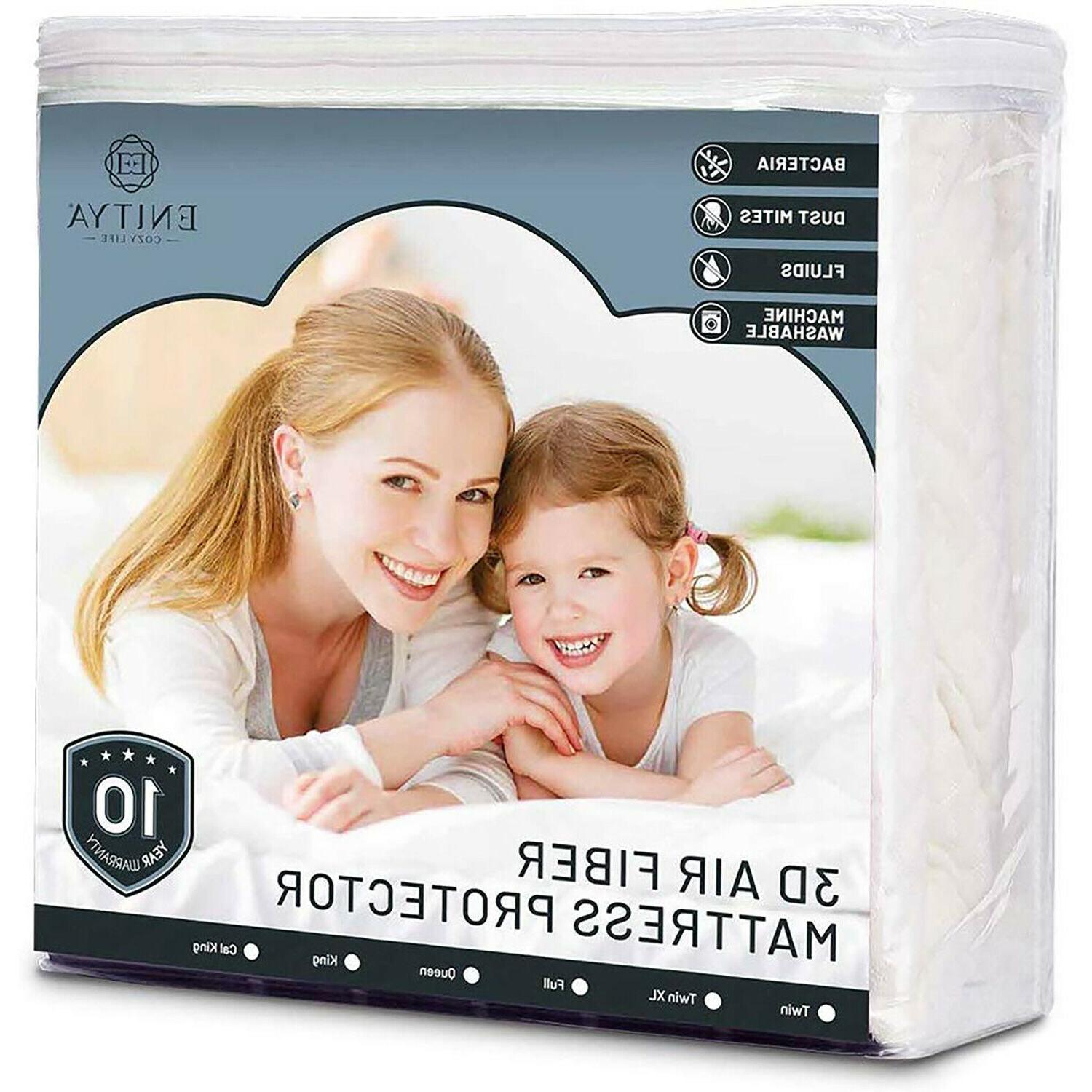 Waterproof Bed Matress Protector 3D Air Breathable Fabric Ma