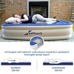 EnerPlex - Luxury Inflatable Air Mattress Tall Bed Built in
