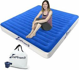 EnerPlex Never-Leak Twin Queen Size Air Mattress Raised Blow