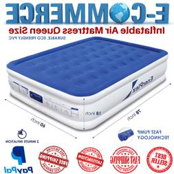 Premium & Portable Inflatable Air Mattress Queen Size With B