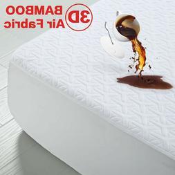 Premium Bamboo Matress Protector Waterproof 3D Air Fabric Br