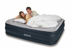 Intex Queen Deluxe Pillow Rest Raised Airbed Air Mattress Be