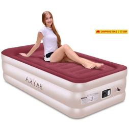 Bayka Twin Air Mattress With With Built-In Pump  Pillow, Rai