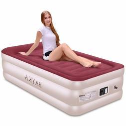 New Bayka Twin Air Bed Mattress With Built-In Pump Pillow Ra