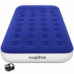 AirExpect Twin Camping Air Mattress with Rechargeable Electr