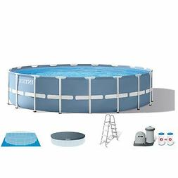 Intex 18 Feet x 48 Inches Prism Frame Swimming Pool Set w/ C